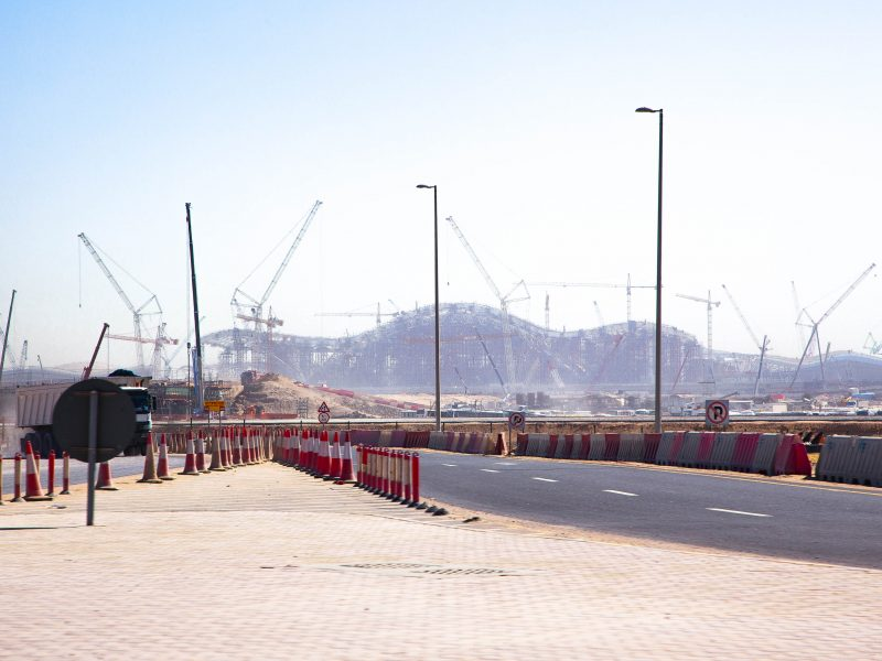 Construction site of the new Abu Dhabi airport