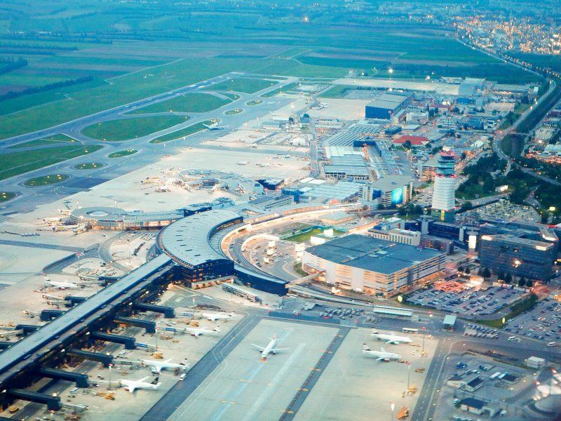 Vienna International Airport aerial view