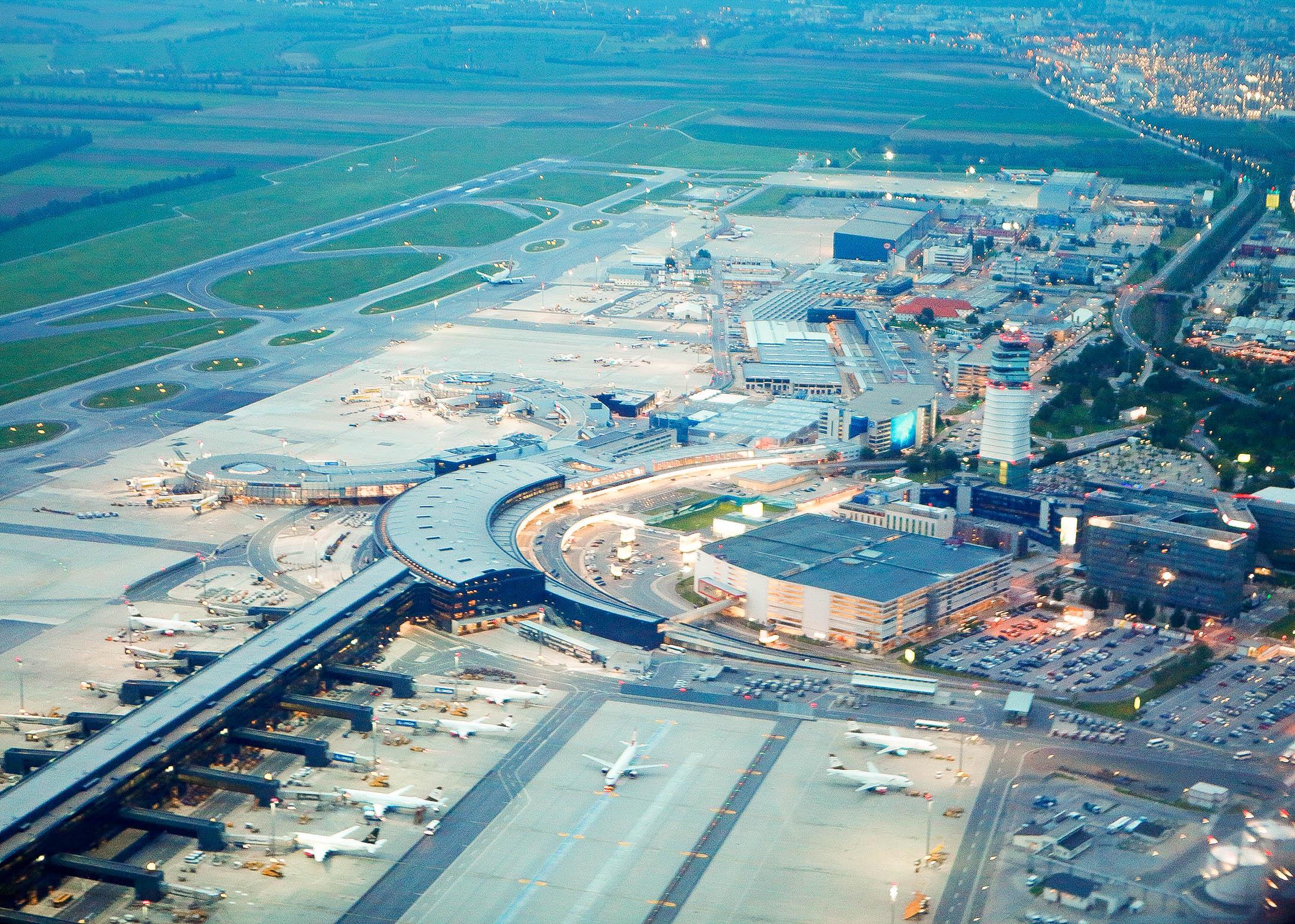 Vienna International Airport aerial view
