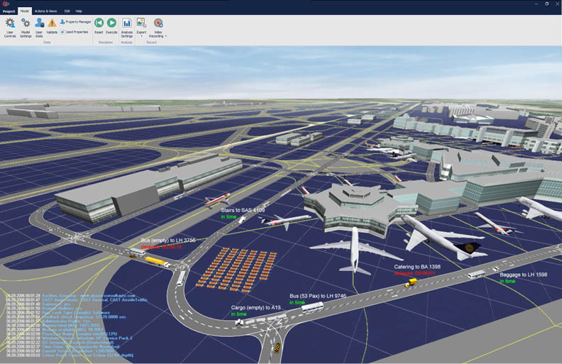 CAST Vehicle Simulation Ground handling airside