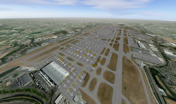 London Heathrow LHR Aircraft Simulation - CAST Aircraft